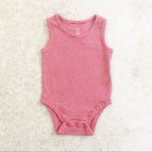 🌿 baby Gap Sleeveless Body Suit Red 0-3 Mos